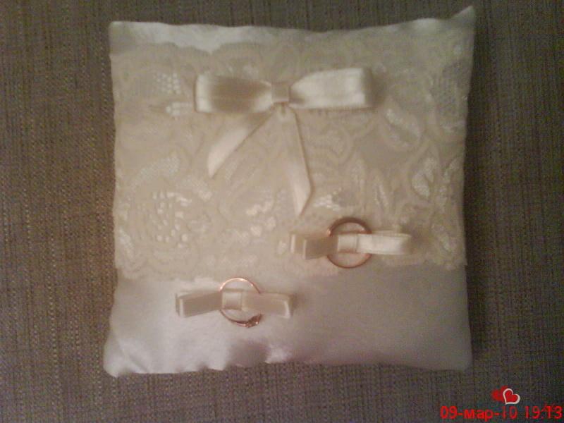 Свадебные подушечки для колец фото своими руками